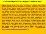 residential apartments in jaypee garden isles noida