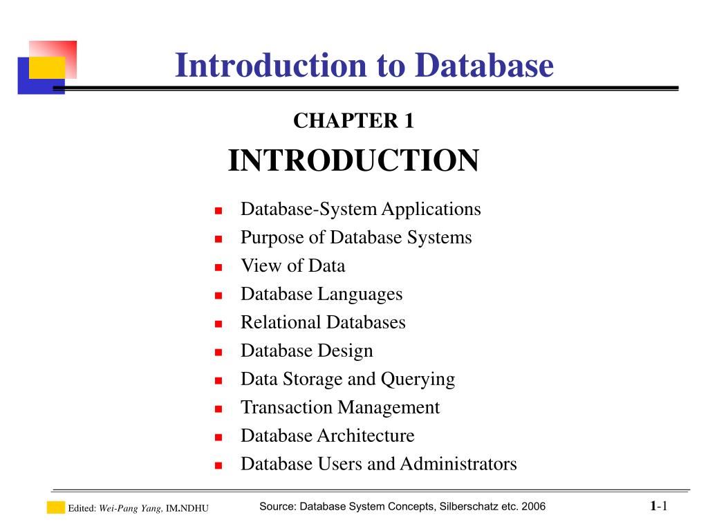 introduction to database l.
