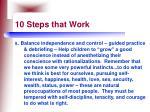 10 steps that work66