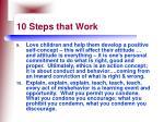 10 steps that work67