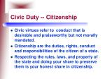civic duty citizenship