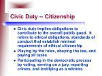 civic duty citizenship112