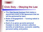 civic duty obeying the law