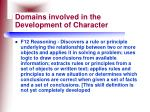 domains involved in the development of character18
