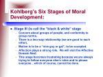 kohlberg s six stages of moral development26
