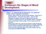 kohlberg s six stages of moral development29
