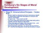 kohlberg s six stages of moral development30