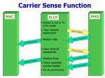 carrier sense function