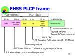 fhss plcp frame