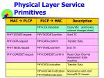physical layer service primitives