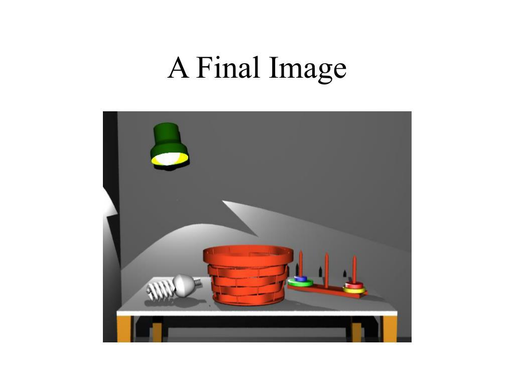 A Final Image