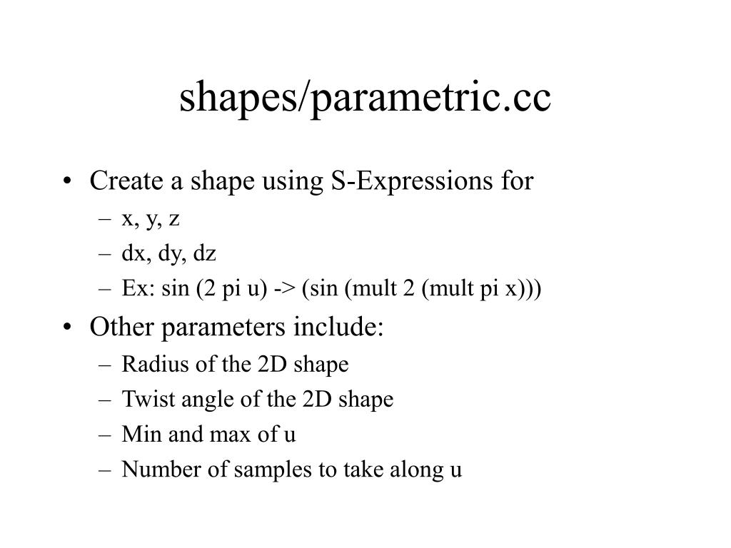 shapes/parametric.cc