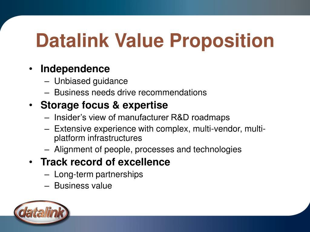Datalink Value Proposition
