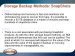 storage backup methods snapshots25