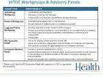 hitoc workgroups advisory panels