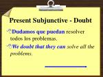 present subjunctive doubt3