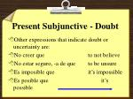 present subjunctive doubt5