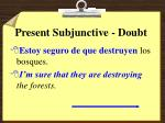 present subjunctive doubt7