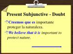 present subjunctive doubt8