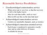 reasonable service possibilities