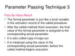 parameter passing technique 3