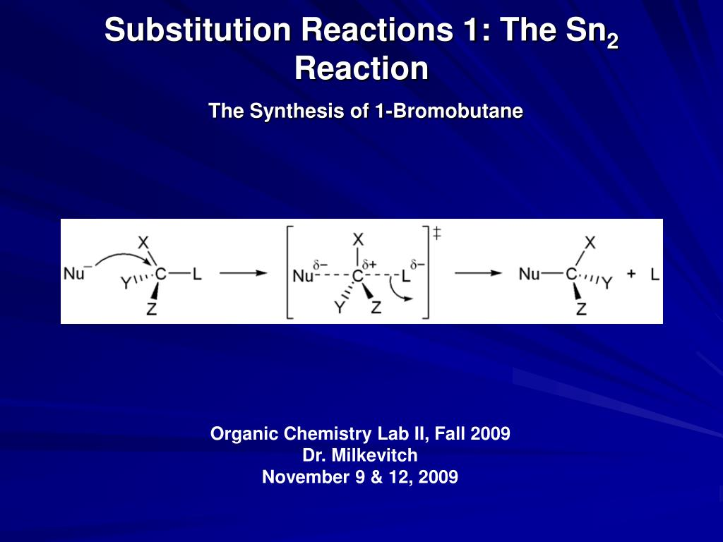 sn2 reaction lab