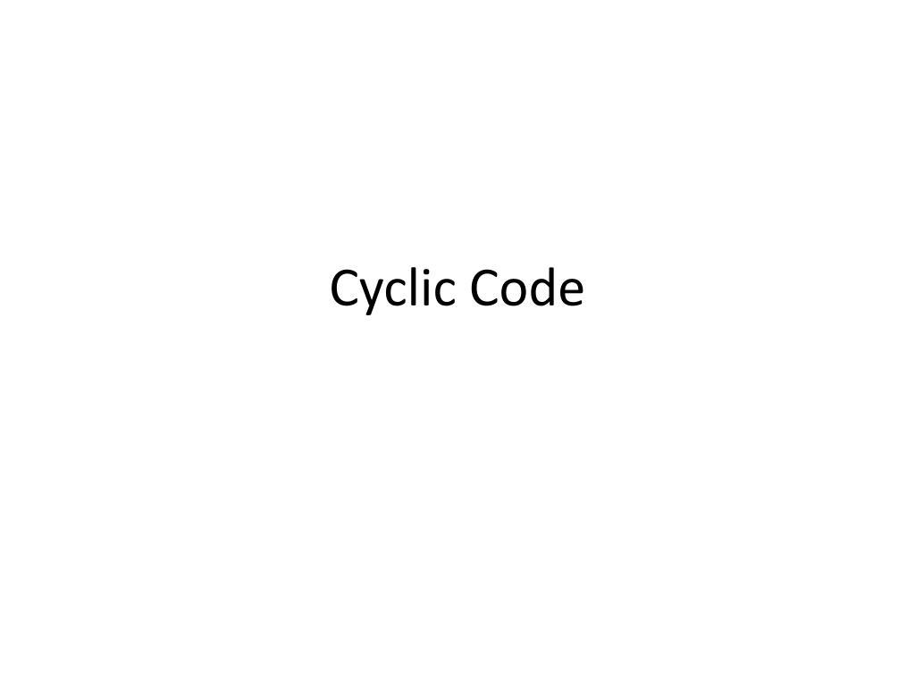 cyclic code l.