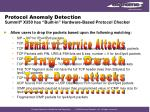 protocol anomaly detection summit x350 has built in hardware based protocol checker
