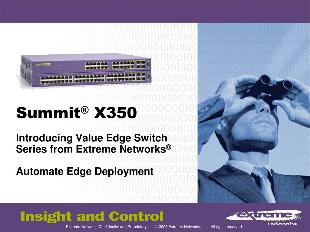 summit x350 l.