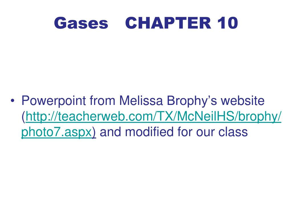 gases chapter 10 l.