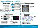 agilent mobile tv solutions