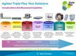 agilent triple play test solutions