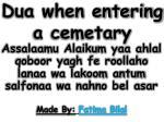 dua when entering a cemetary
