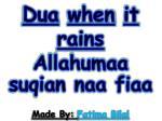 dua when it rains