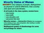 minority status of women