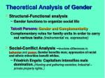 theoretical analysis of gender