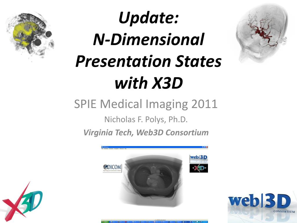 update n dimensional presentation states with x3d l.