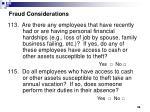 fraud considerations38