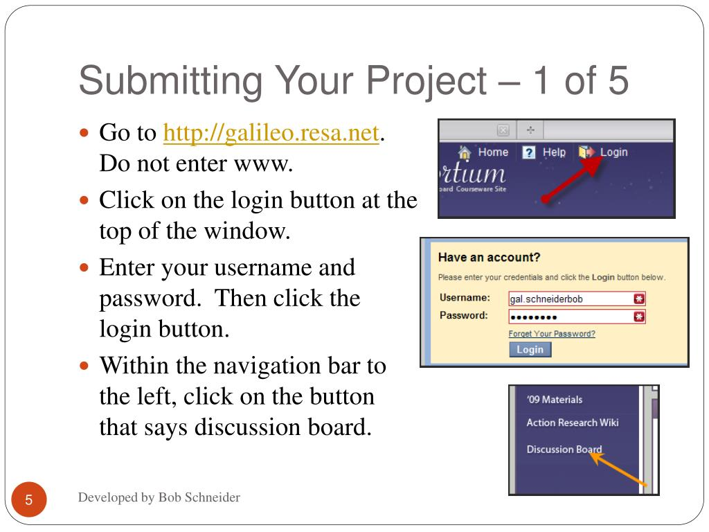 Submitting Your Project – 1 of 5