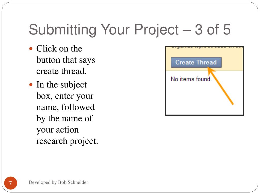 Submitting Your Project – 3 of 5