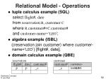 relational model operations52