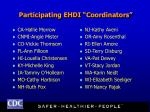 participating ehdi coordinators