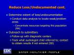 reduce loss undocumented cont