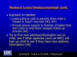 reduce loss undocumented cont20