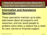 how can consumers learn about the long term care options in wisconsin65