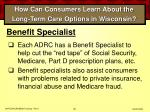 how can consumers learn about the long term care options in wisconsin66