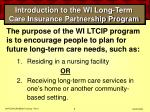 introduction to the wi long term care insurance partnership program8