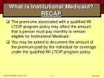 what is institutional medicaid recap61