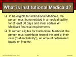 what is institutional medicaid58