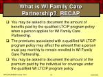 what is wi family care partnership recap53